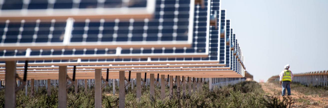 Opérateurs de la centrale solaire Sunpower Total, Prieska.