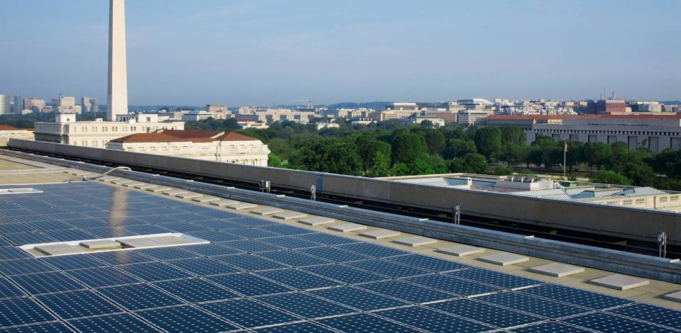 A rooftop photovoltaic system for the U. S. Department of Energy.