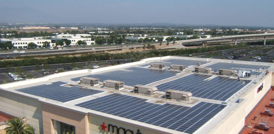 A rooftop photovoltaic system for a Macy's store in Irvine, California.