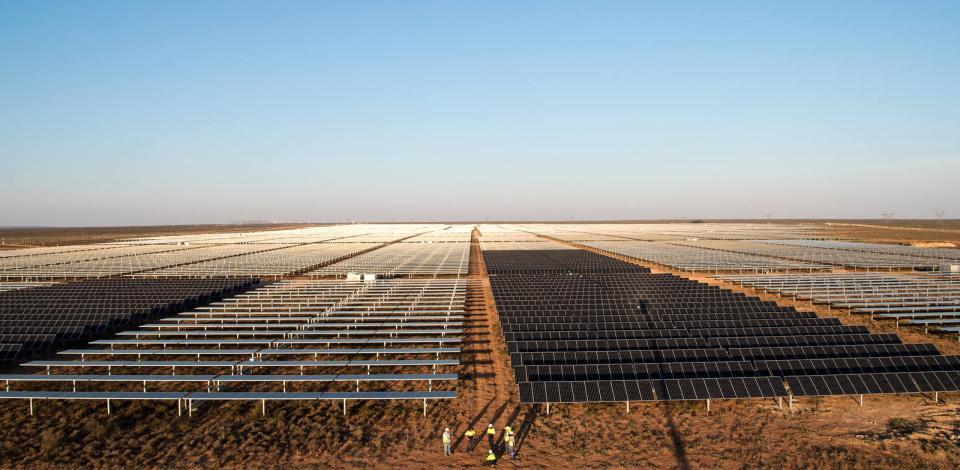 TotalEnergies affiliate SunPower's solar plant in Prieska, South Africa.