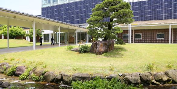Panneaux solaires Sunpower chez Sasyunkan co, Kumamoto, Japon.